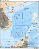 South China Sea Islands Political Map