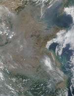 Incendios y humo en China