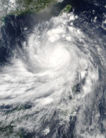 Typhoon Imbudo (09W) over the Philippines
