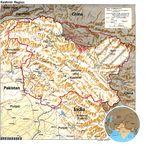 Mapa de Relieve Sombreado de la Región Cachemira