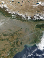 Contaminación en al noreste de India