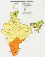 India Language and Minority Religions Map
