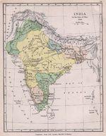 Mapa de India 1760