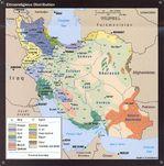 Mapa de la Distribución Etno-Religiosa en Irán