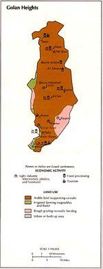 Mapa de la Actividad Económica y del Uso de la Tierra de los Altos del Golán
