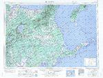 Mapa Blanco y Negro de Maine, Estados Unidos