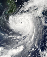 Typhoon Etau (11W) over Japan