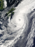 Typhoon Choi-Wan approaching Japan