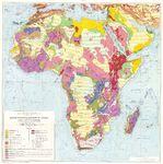 Mapa geológico de África 1958