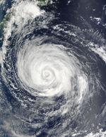Tifón Rusa (21W) sur de Japón
