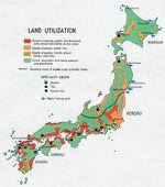 Mapa del Uso de la Tierra de Japón