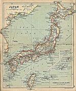 Mapa de Japón 1912