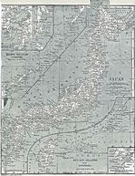 Mapa de las Principales Ciudades y Municipios de Japón 1917