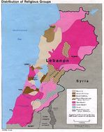 Mapa de la Distribución de los Grupos Religiosos de Líbano