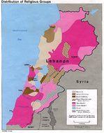 Lebanon Distribution of Religious Groups Map