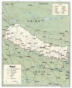 Mapa Politico de Nepal