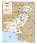 Mapa Politico de Pakistán