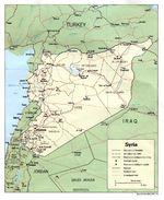 Mapa Politico de Syria