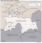 Mapa de las Principales Instalaciones de la Industria de Defensa de Tayikistán