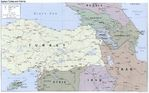 Mapa Politico de Turquía Oriental y Cercanías