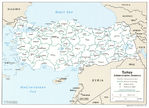 Turkey Administrative Divisions Map