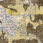 Mapa Topográfico de la Région de Khiva-Urgench, Uzbekistán