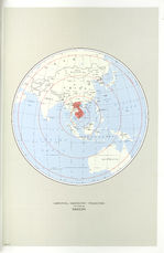 Indochina Azimuthal Equidistant Projection Map