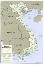 Vietnam Mapa de las Divisiones Administrativas de