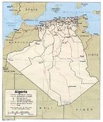 Algeria Political Map