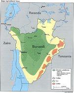 Burundi Major Agricultural Areas Map