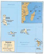 Comoras Mapa Politico