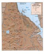 Mapa de Relieve Sombreado de Eritrea y del Norte de Etiopía