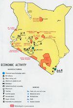 Mapa de la Actividad Económica de Kenia