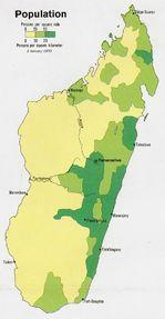 Madagascar Population Map