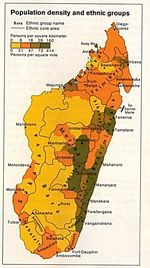Madagascar Population Map Density and Ethnic Groups Map