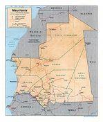 Mapa de Relieve Sombreado de Mauritania