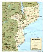 Mapa Politico de Mozambique