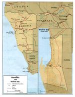 Namibia and Walvis Bay Map 1978