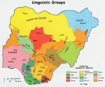 Nigeria Ethnolinguistic Groups Map