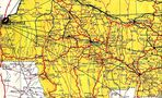 Democratic Republic of the Congo (Zaire) West Central Region Topographic Map 1961