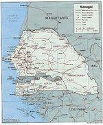 Mapa Politico de Senegal