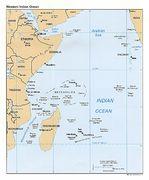 Mapa Politico del Océano Índico Occidental
