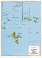 Mapa de Relieve Sombreado de Seychelles