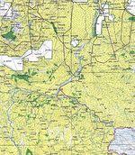 Mapa Topográfico de la Región de Malakal, Sudán