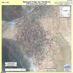 Foto, Imagen Satelite de Aldeas Destruidas Cerca de Fata Barno, Darfur, Sudán, Junio 17, 2004