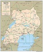 Mapa Politico de Uganda