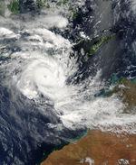 Ciclón tropical Inigo (26S) acercando el noroeste de Australia