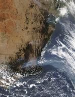 Incendios y humo en el sureste de Australia
