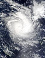 Ciclón tropical Zoe (06P) noreste de Vanuatu, sur del Océano Pacífico