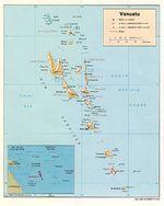 Mapa Físico de Vanuatu
